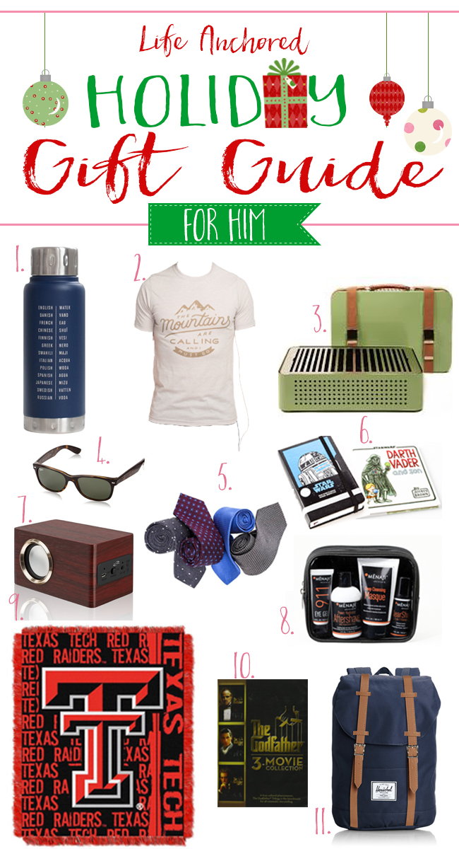 Life Anchored 2015 Holiday Gift Guide for Him // Life Anchored