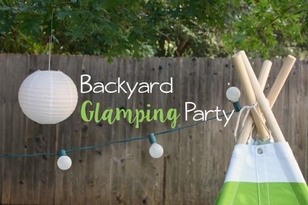 Backyard Glamping Party // Life Anchored #ad #FallGlamping