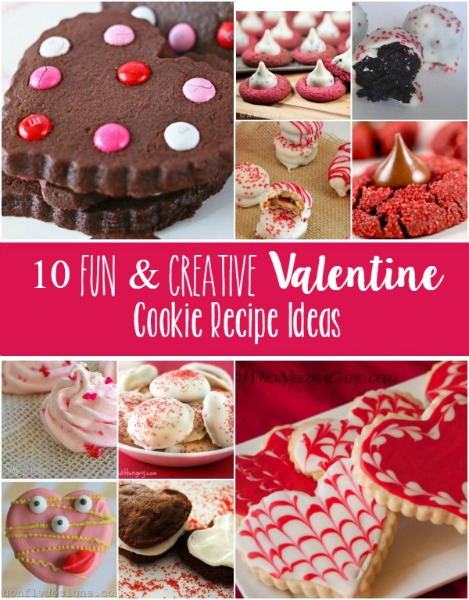 10 Fun & Creative Valentine Cookie Recipe Ideas // Life Anchored