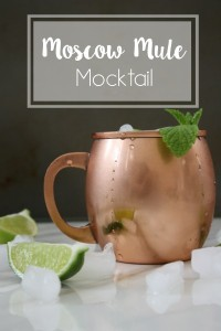 Moscow Mule Mocktail // Life Anchored (ad) #SparklingHolidays