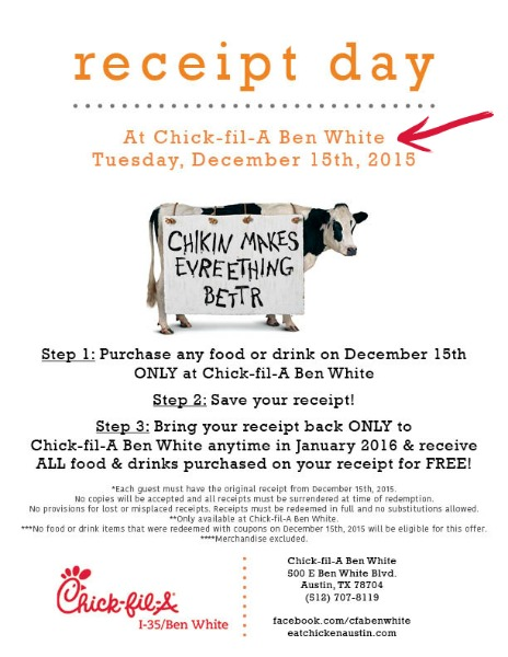 Free Chick-fil-A, Say What - Life Anchored