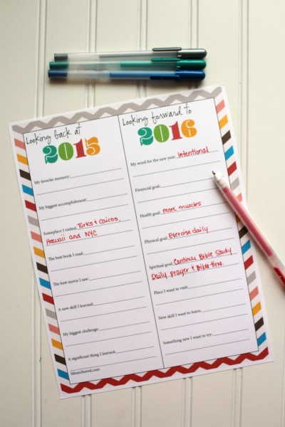 New year goals printable // Life Anchored