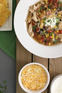 Slow Cooker Chicken Taco Soup // Life Anchored ad #YesYouCAN