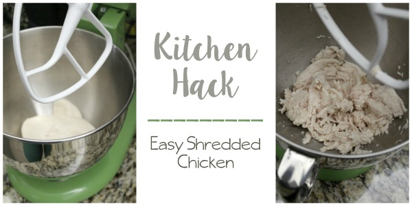 Easy kitchen hack for shredded chicken // Life Anchored ad #YesYouCAN