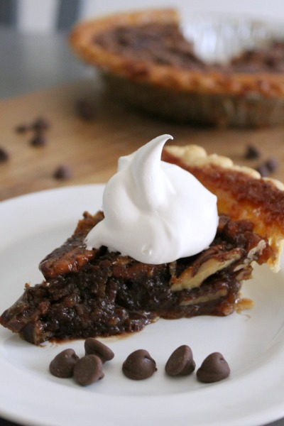 whiskey chocolate pecan pie // Life Anchored