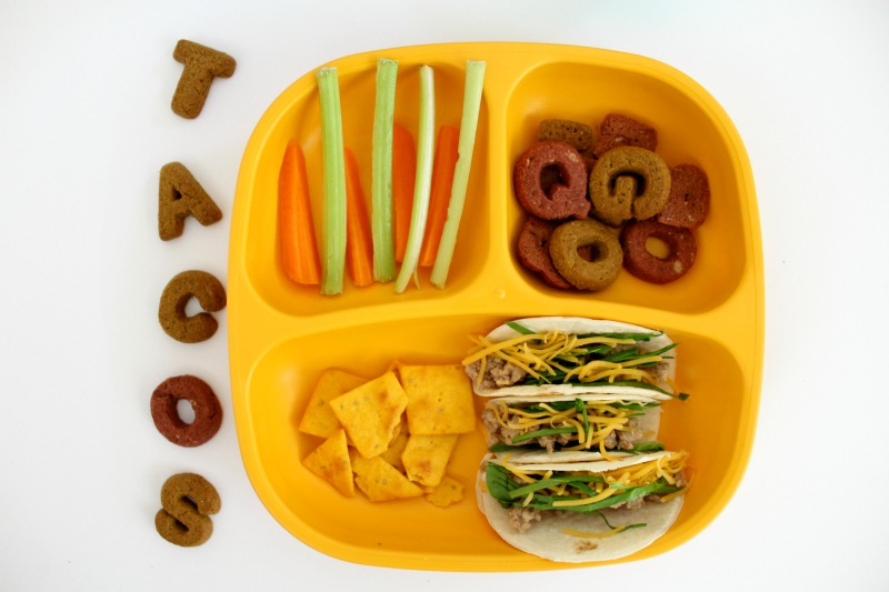 Healthy Mini Taco Toddler Lunch // Life Anchored AD
