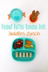 Peanut Butter Banana Rolls Toddler Lunch // Life Anchored AD