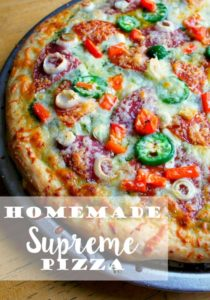 Homemade Supreme Pizza // Life Anchored