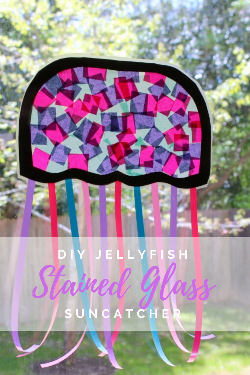 DIY Jelly Fish Stained Glass Suncatcher