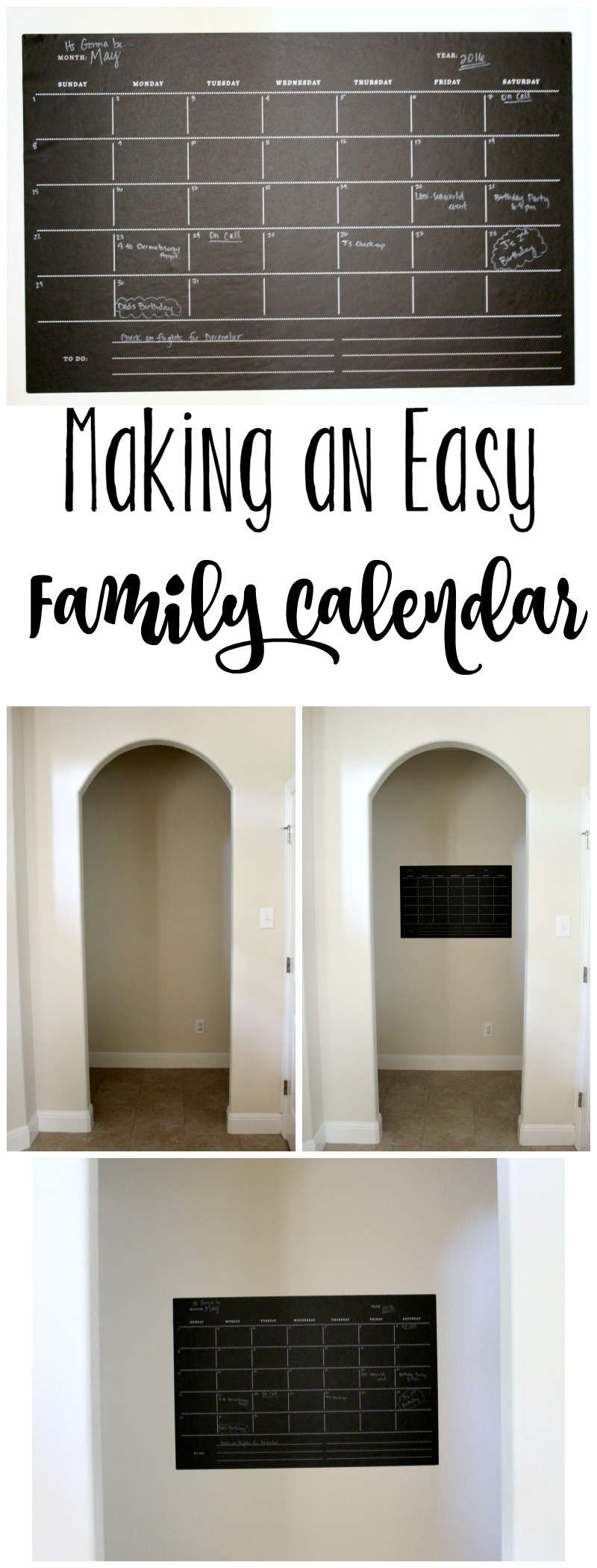 Making an Easy Family Calendar // Life Anchored ad