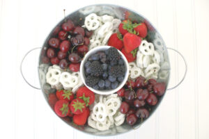 Red White and Blue 4th of July Fruit Platter // Life Anchored