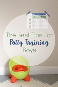 The Best Tips for Potty Training Boys // Life Anchored #PottyTrainTogether #ad