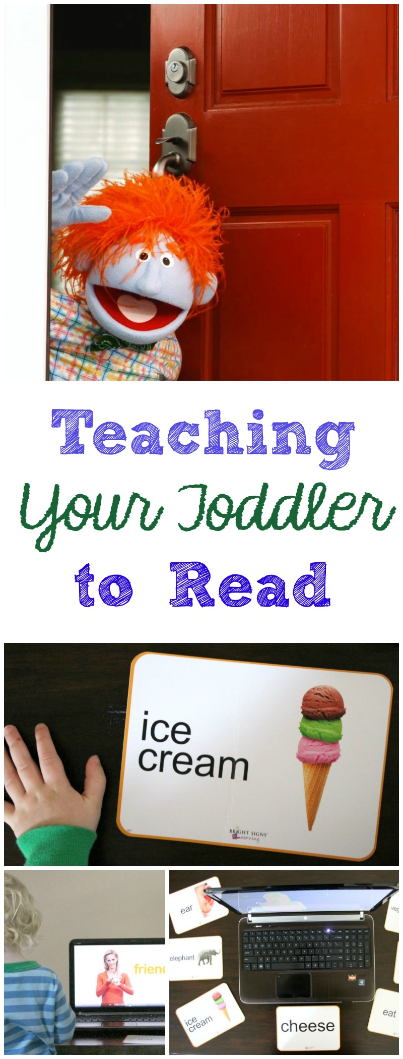 Teaching Your Toddler to Read // Life Anchored AD