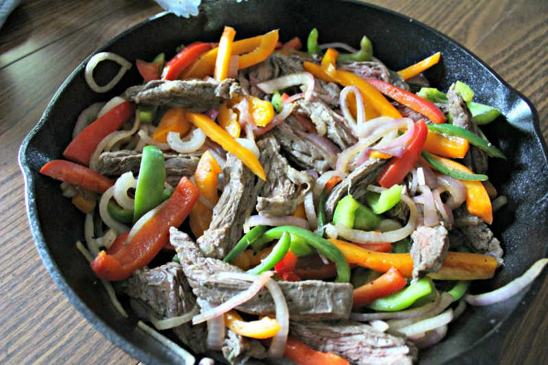 Skillet Steak Fajitas // Life Anchored