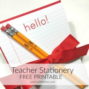 Back to School FREE Teacher Stationary Printable