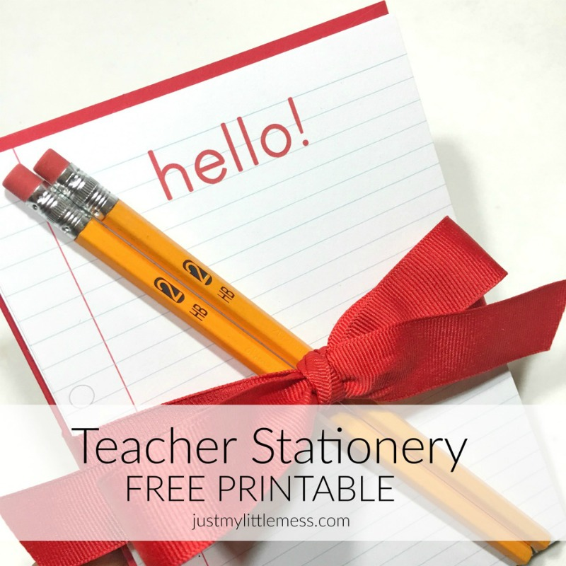 image about Stationary Printable called Again towards College Totally free Instructor Stationary Printable - Everyday living Anchored