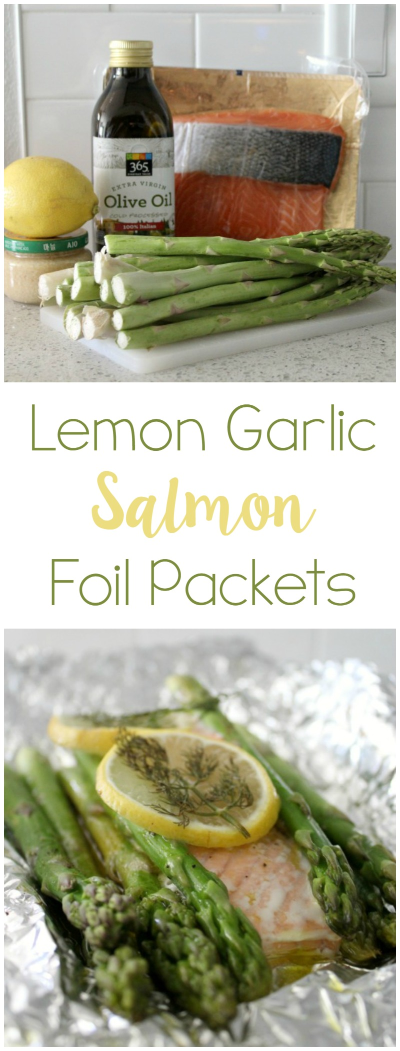 Lemon Garlic Salon Foil Packet // Life Anchored AD