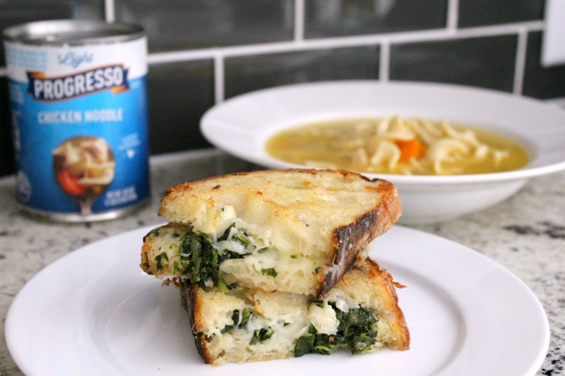 spinache artichoke grilled cheese //Life Anchored ad