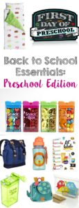 Back to School Essentials: Preschool Edition