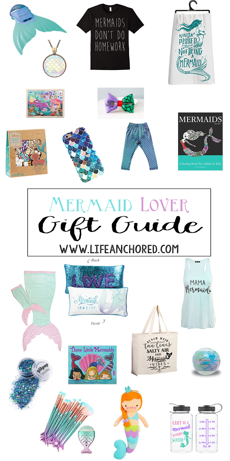 mermaid lover gift guide // Life Anchored
