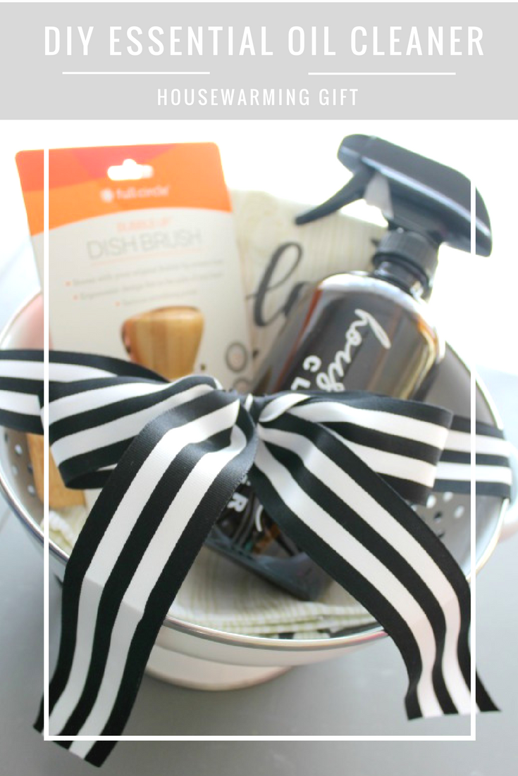 DIY Essential Oil Household Cleaner Housewarming Gift // Life Anchored
