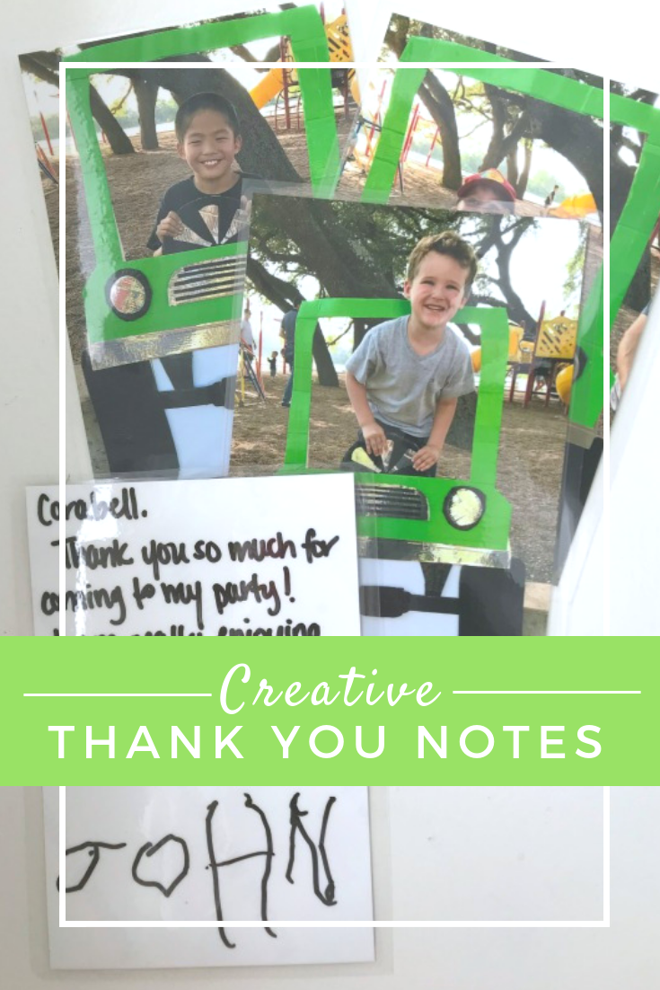 Creative Thank you note ideas for kids // Life Anchored