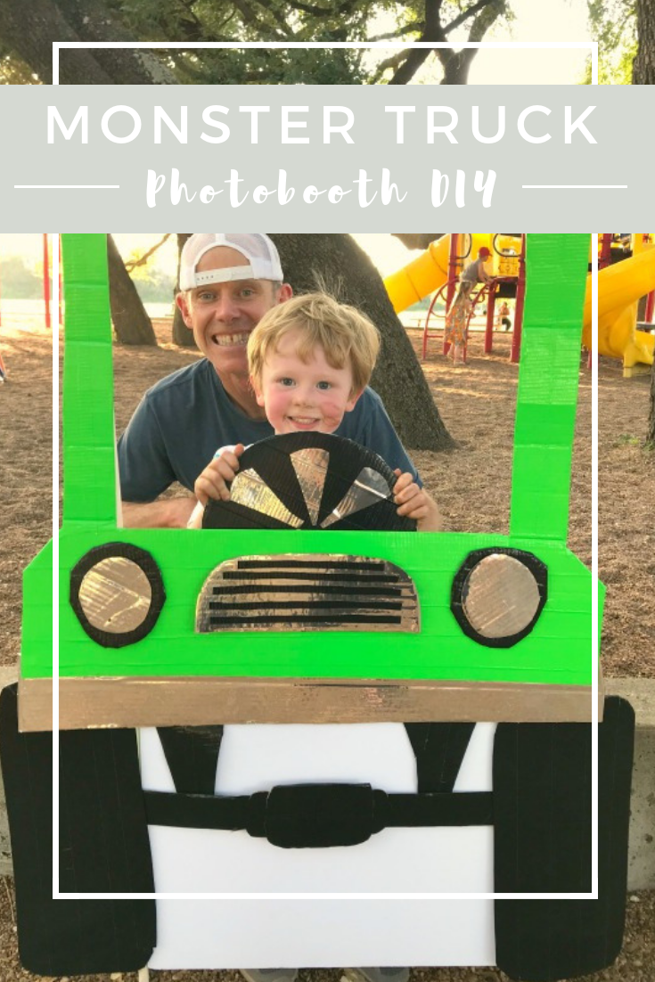 DIY Monster truck photobooth // Life Anchored