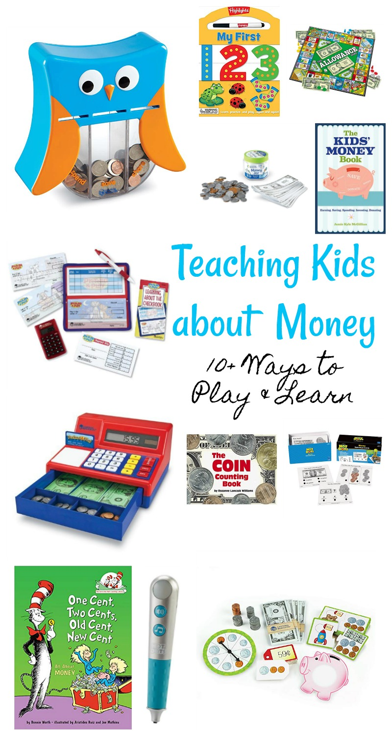 Teaching Kids about money 10+ ways to play and learn // Life Anchored