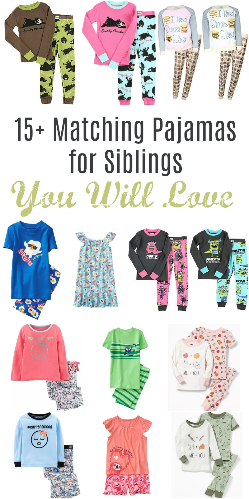 Matching Pajamas for Siblings // Life Anchored
