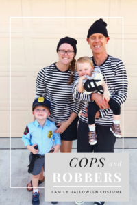 Cops and Robbers Family Halloween Costume DIY
