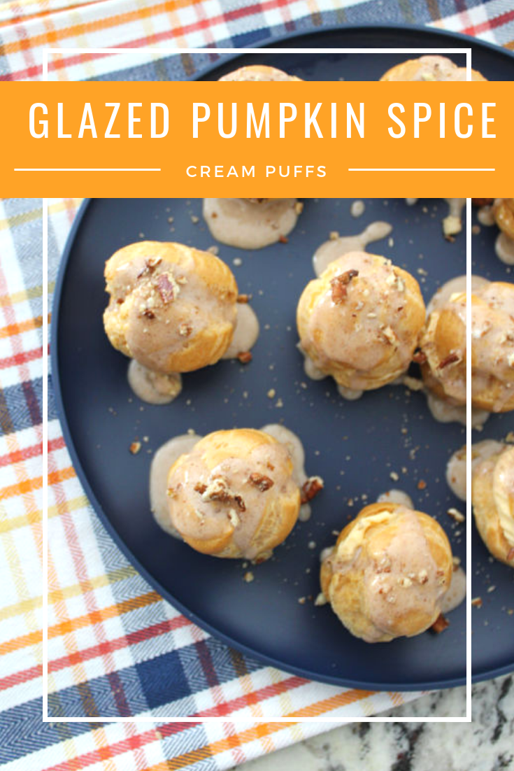 Glazed Pumpkin Spice Cream Puffs // Life Anchored AD
