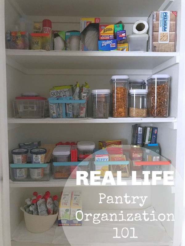 Real Life Pantry Organization 101 // Life Anchored