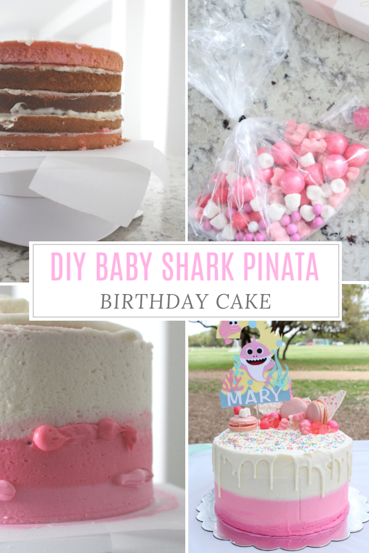 Bbaby Shark Pinata Birthday Cake