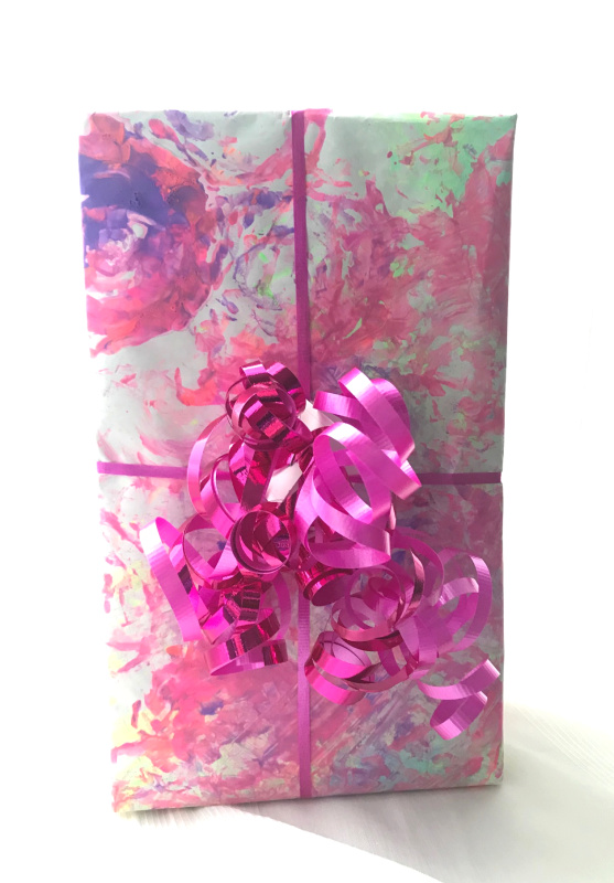 Flower Stamped DIY Wrapping Paper // Life Anchored