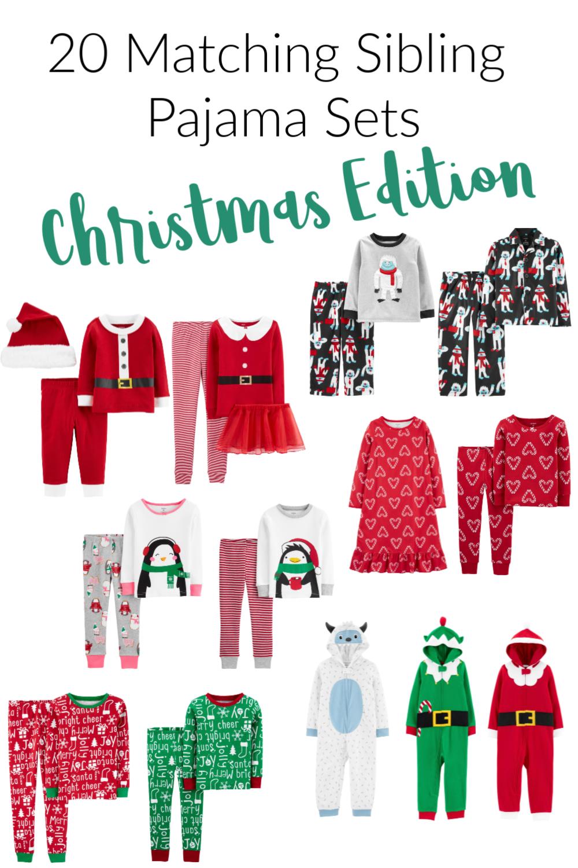 Matching Pajamas for Siblings Christmas Edition