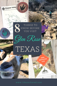 8 Things to Know before you visit Glen Rose Texas // Life Anchored