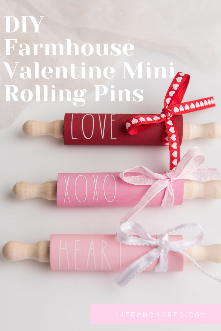 DIY Farmhouse Valentine Mini Rolling Pins // Life Anchored