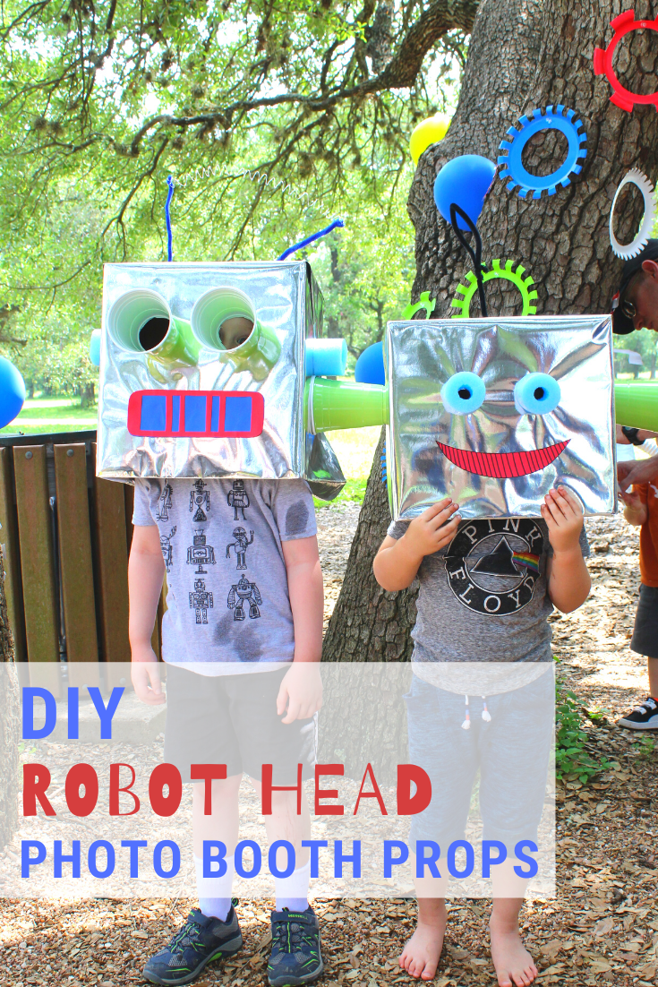 DIY Robot Head Photo Booth Props // Life Anchored