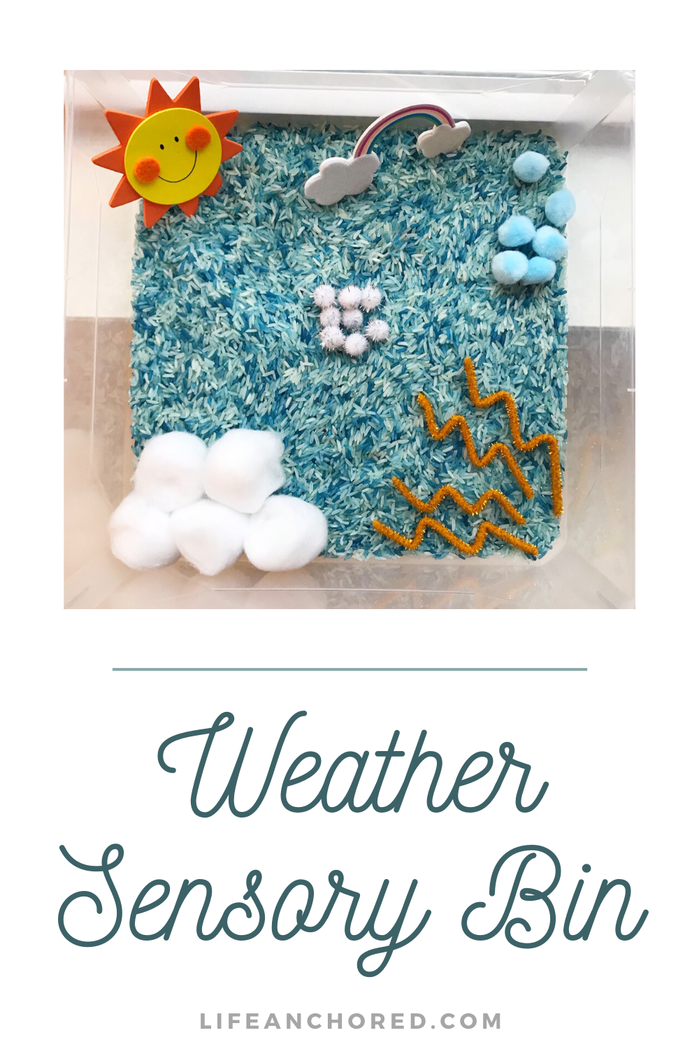 Weather Sensory Bin DIY // Life Anchored
