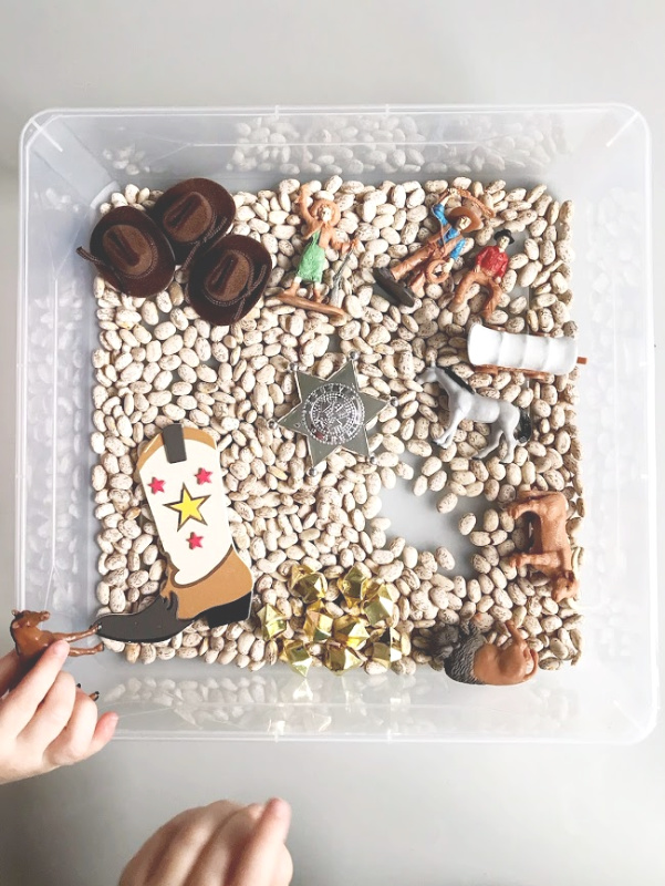 Wild West Cowboy Sensory Bin // Life Anchored